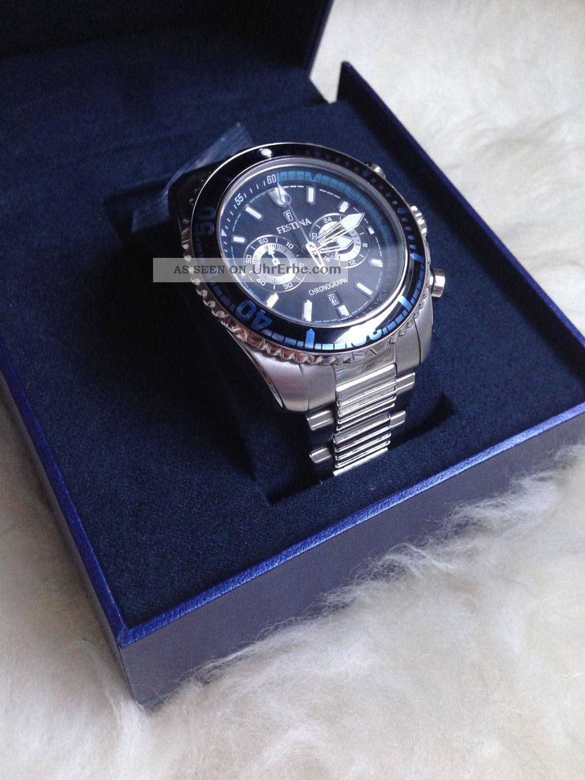 Edle Festina Herrenuhr F16564 Armbanduhren Bild