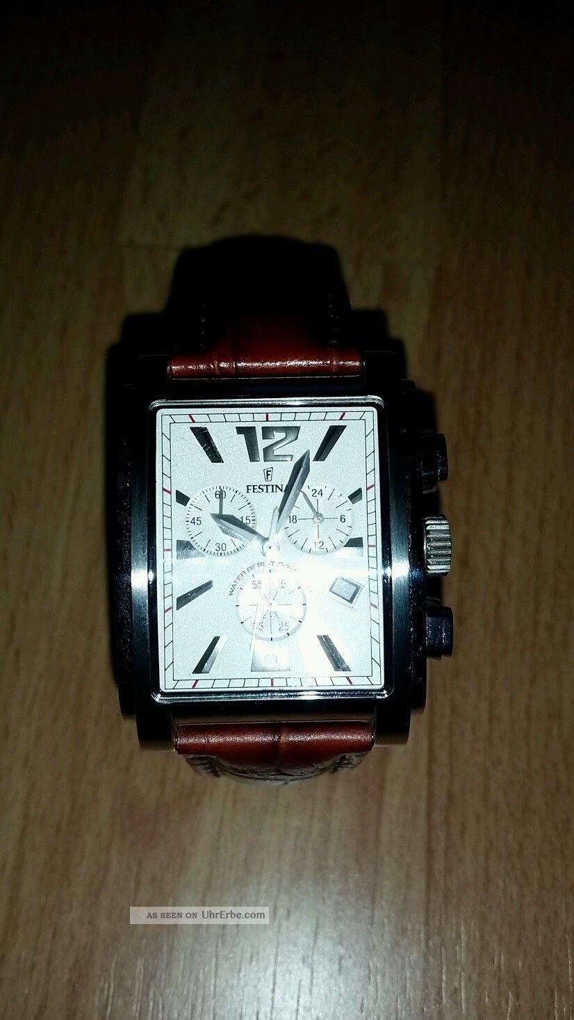 Festina Chronograph Herren Uhr Herrenuhr Armbanduhren Bild