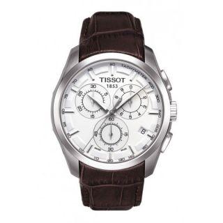 Herren Uhr Tissot T0356171603100 Chronograph Braun Leder Bild