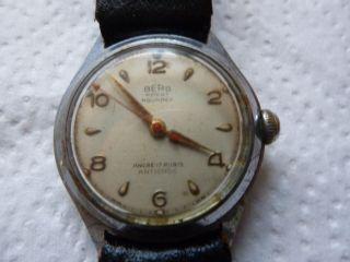 Armbanduhr Aus Papas Sammlung Nr.  37 Berg 17 Rubis Funktion Mindes 12 Std. Bild