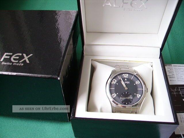 Alfex - Badur Herrenuhr Mit Eta/unitas 6498 Armbanduhren Bild