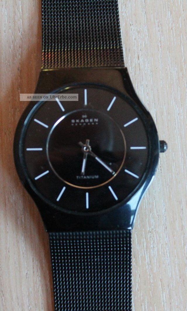 Skagen Quarzuhr Schwarz Armbanduhren Bild
