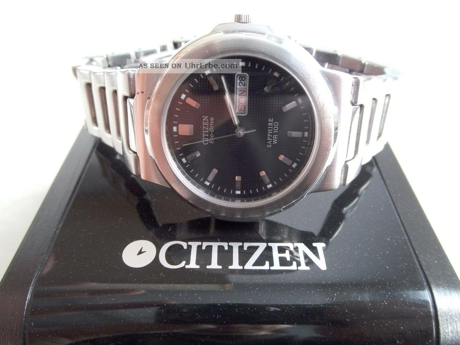 Herren Armbanduhr Citizen Eco - Drive Armbanduhren Bild