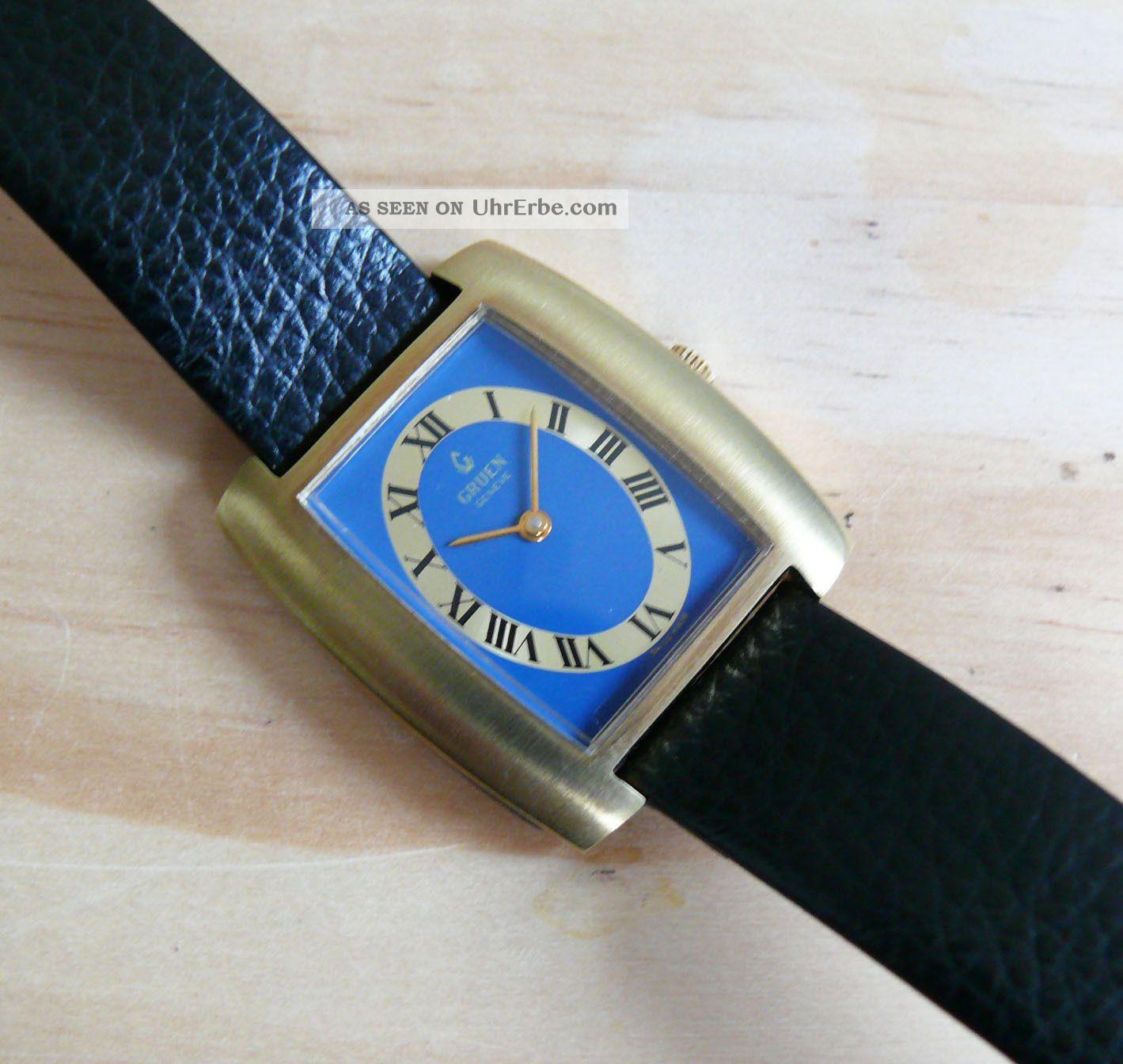 Gruen - Genf Swiss Made Ungetragene Sammlungsuhr Armbanduhren Bild
