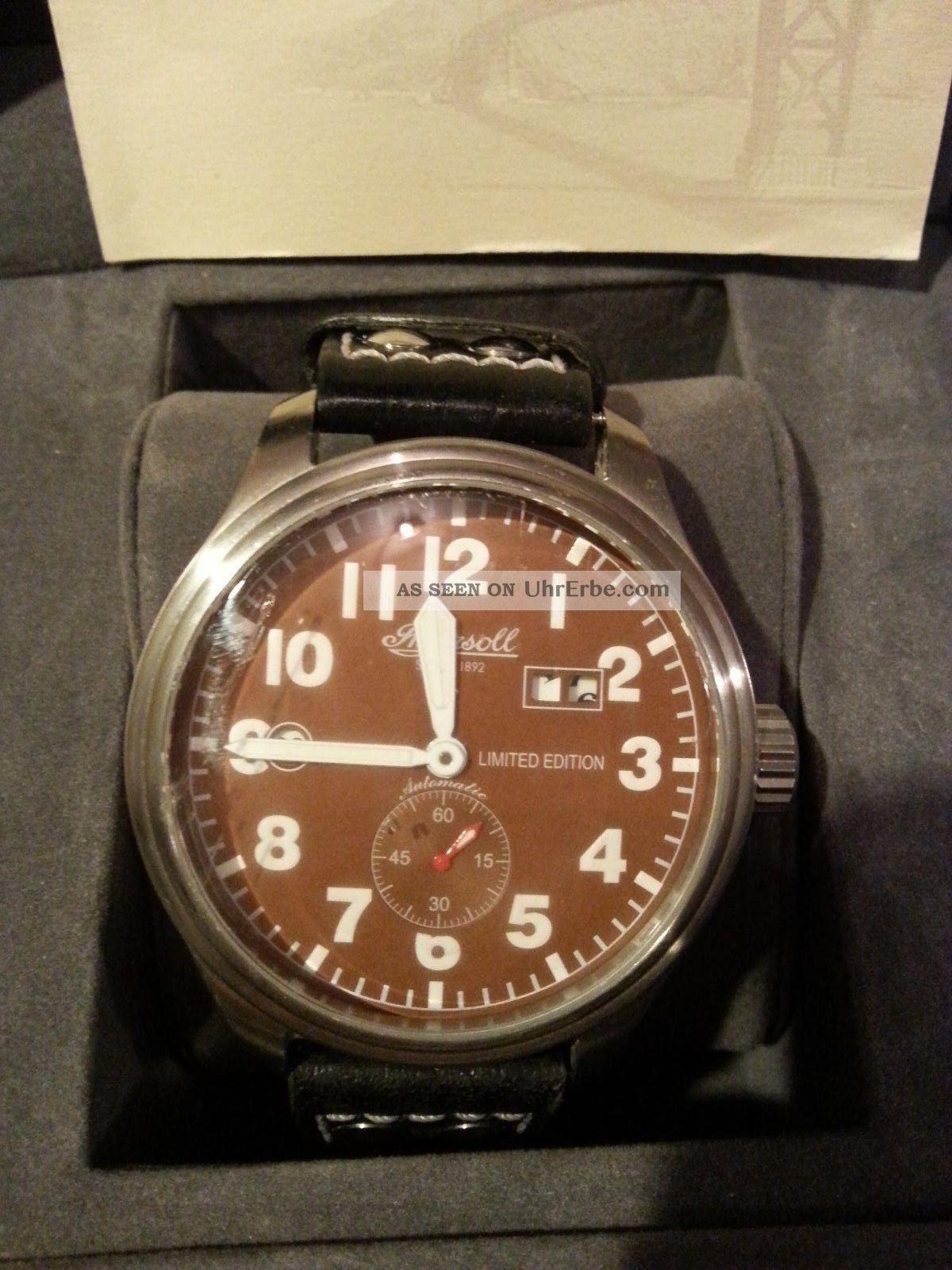 Ingersoll Gmt Herren Automatik Uhr Limited Edition Armbanduhren Bild
