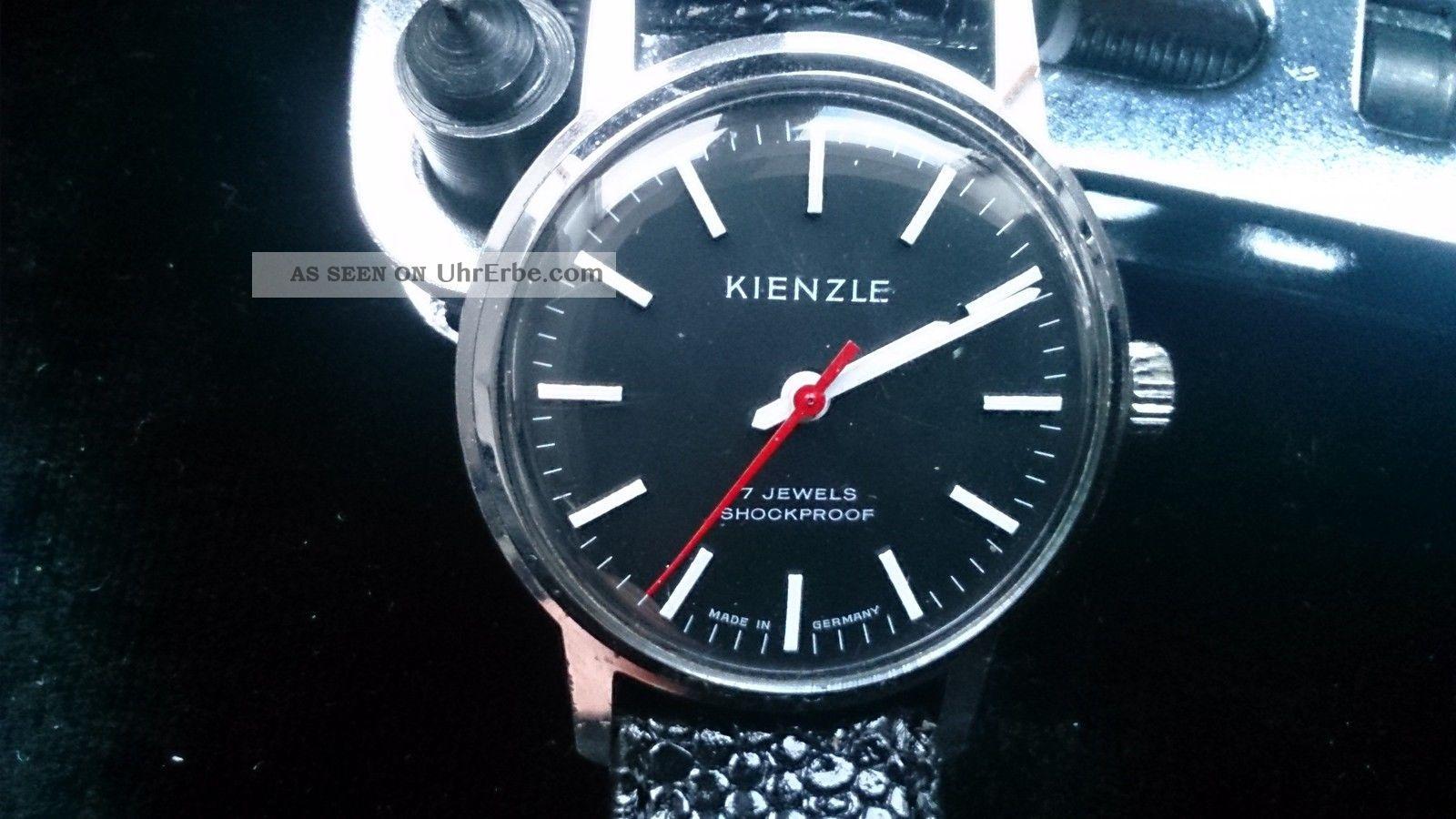 Alte Kienzle Armbanduhr In Bahnhofsuhr - Optik Armbanduhren Bild