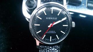 Alte Kienzle Armbanduhr In Bahnhofsuhr - Optik Bild
