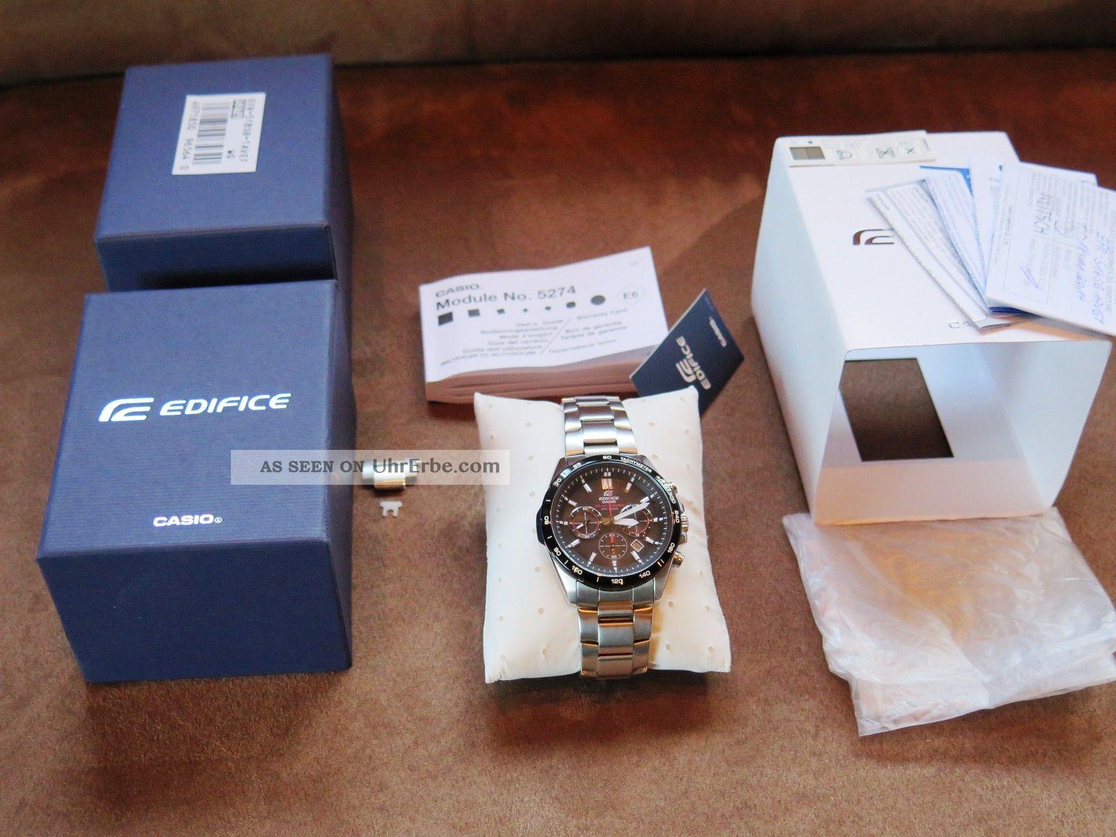 Casio Herren - Armbanduhr Xl Edifice Efr - 518sb - 1avef Solar,  Wie,  In Ovp Armbanduhren Bild