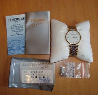 Longines La Grande Classique Uhr Armbanduhr Gold Silber Damen Herren Retro Bild