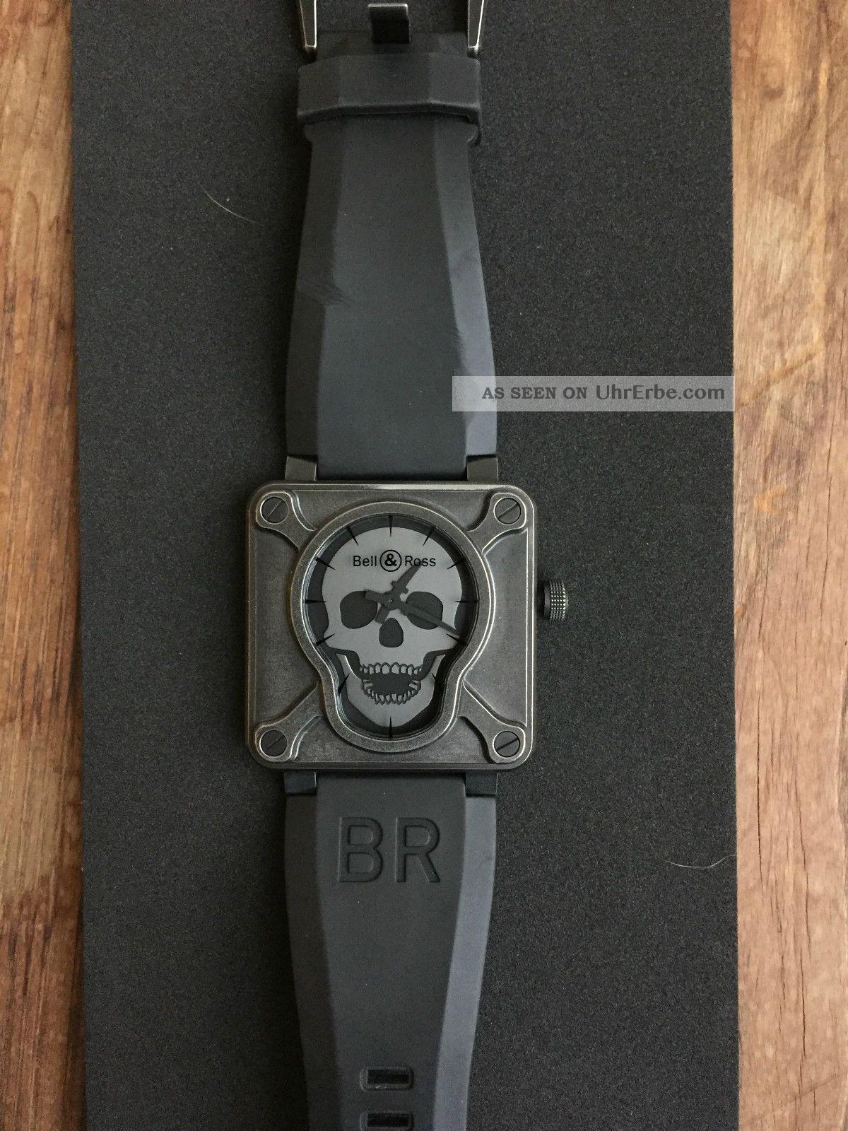 Bell & Ross Aviation Br01 - 92 - S - Airborn Uhr Mit Totenkopf - Limited Edition Armbanduhren Bild