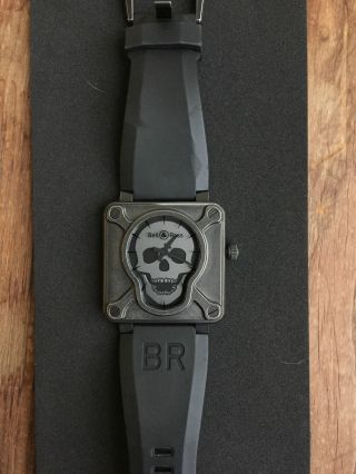 Bell & Ross Aviation Br01 - 92 - S - Airborn Uhr Mit Totenkopf - Limited Edition Bild