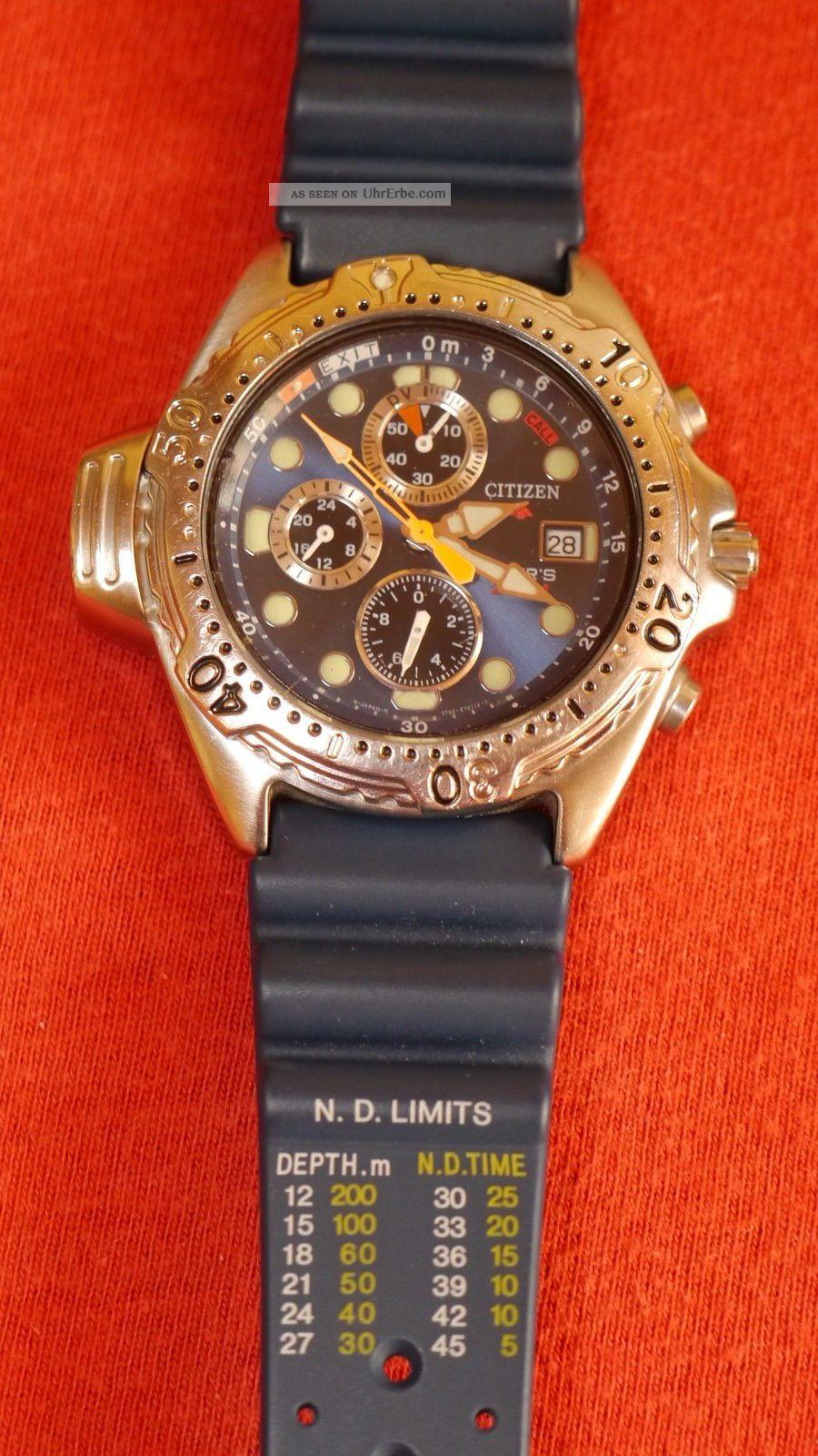 Armbanduhr Taucheruhr Citizen Aqualand Chronograph Armbanduhren Bild