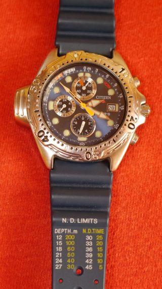 Armbanduhr Taucheruhr Citizen Aqualand Chronograph Bild