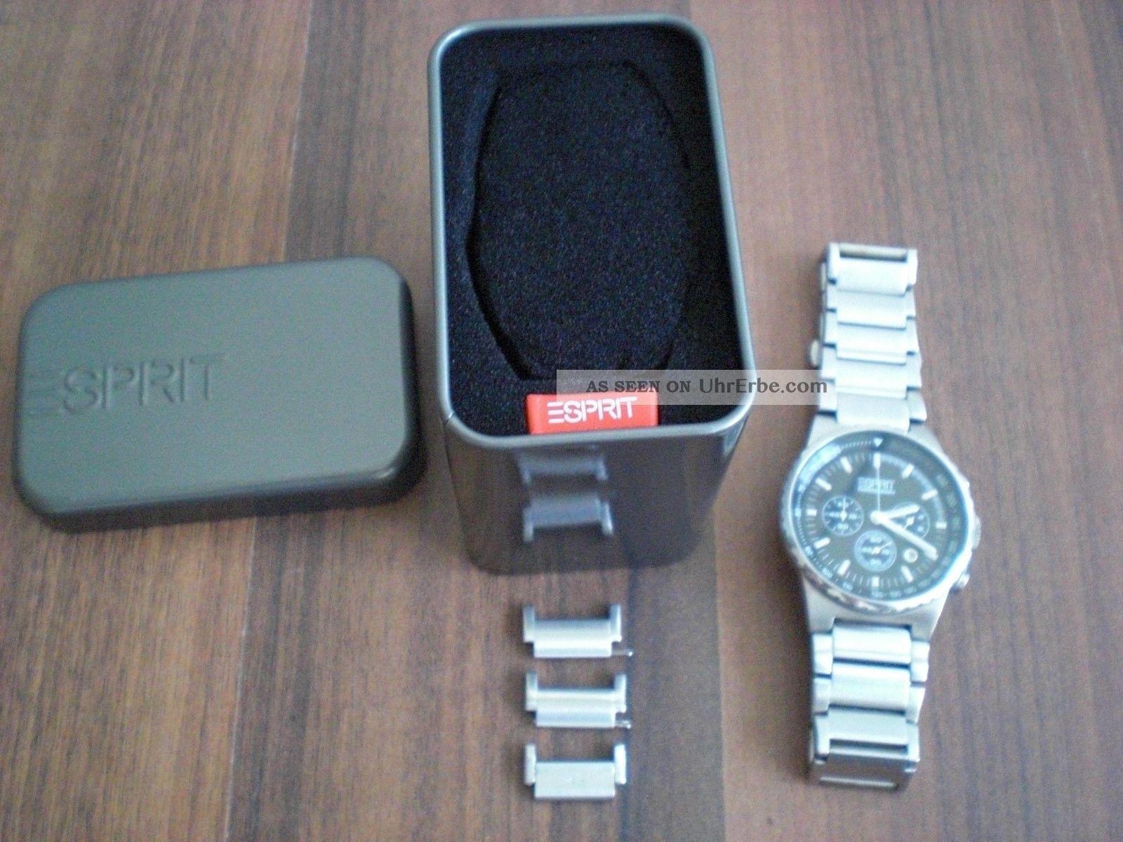 Herren Uhr Chronograph Von Esprit Armbanduhren Bild