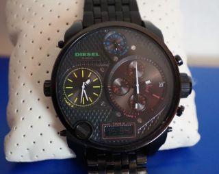 Diesel Big Daddy Watch Uhr Herrenuhr Schwarz Black Dz - 7266 Ovp,  Handbuch Bild