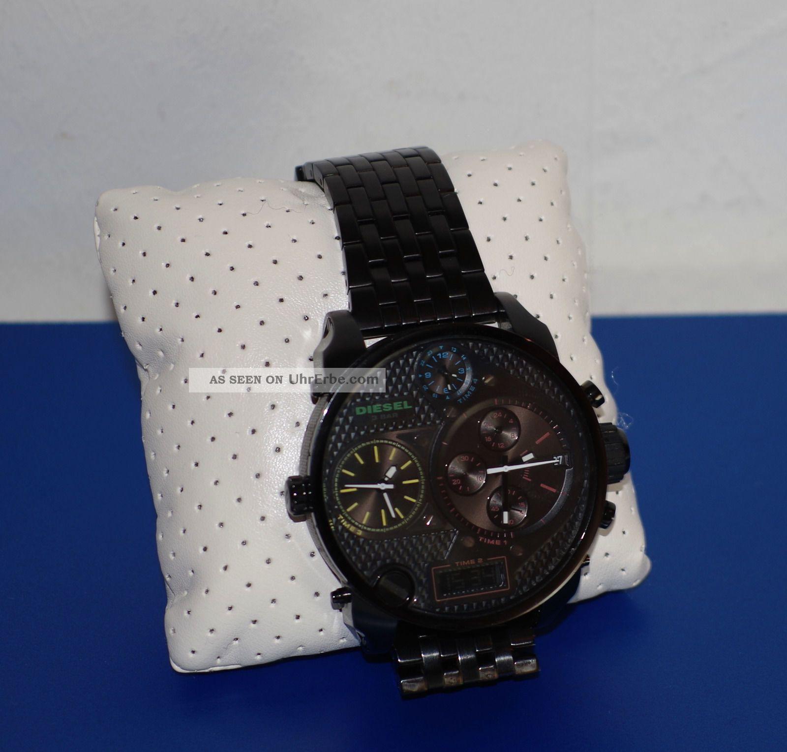 diesel big daddy watch uhr herrenuhr schwarz black dz. Black Bedroom Furniture Sets. Home Design Ideas