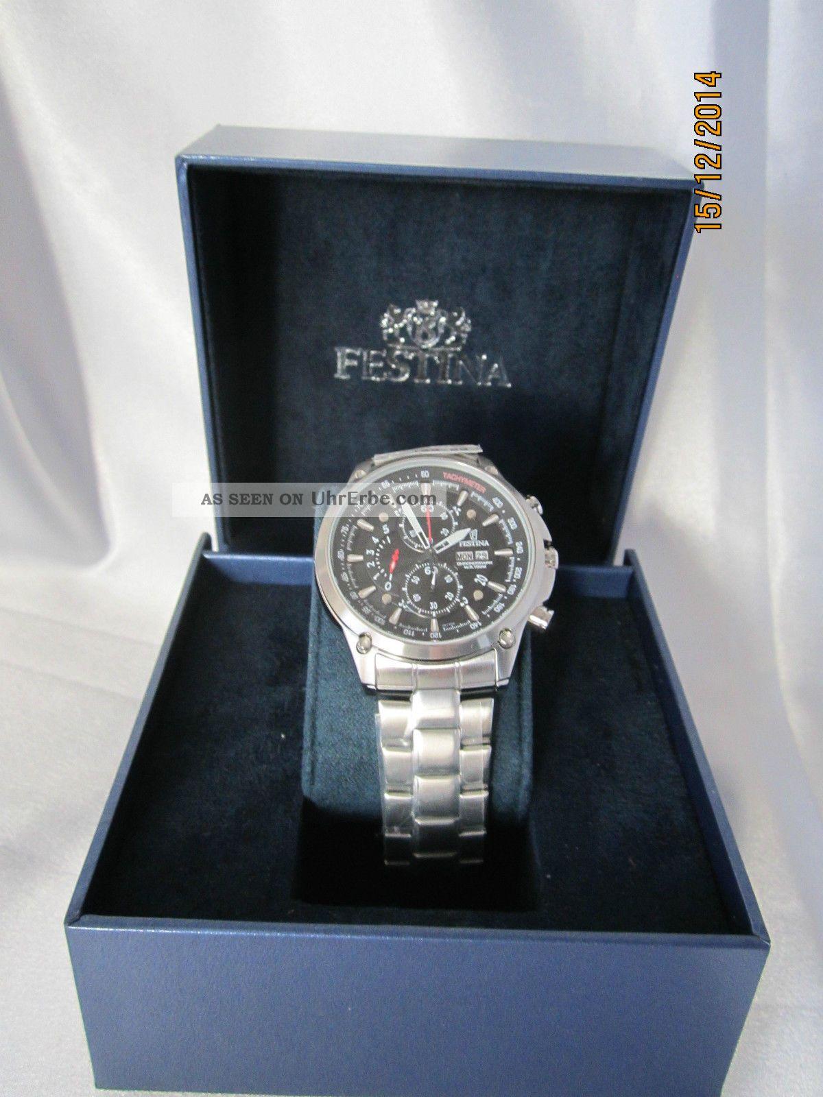 Festina Herren - Armbanduhr Xl Sport Chronograph Quarz Edelstahl F6817/4 Armbanduhren Bild