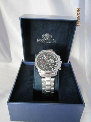 Festina Herren - Armbanduhr Xl Sport Chronograph Quarz Edelstahl F6817/4 Bild