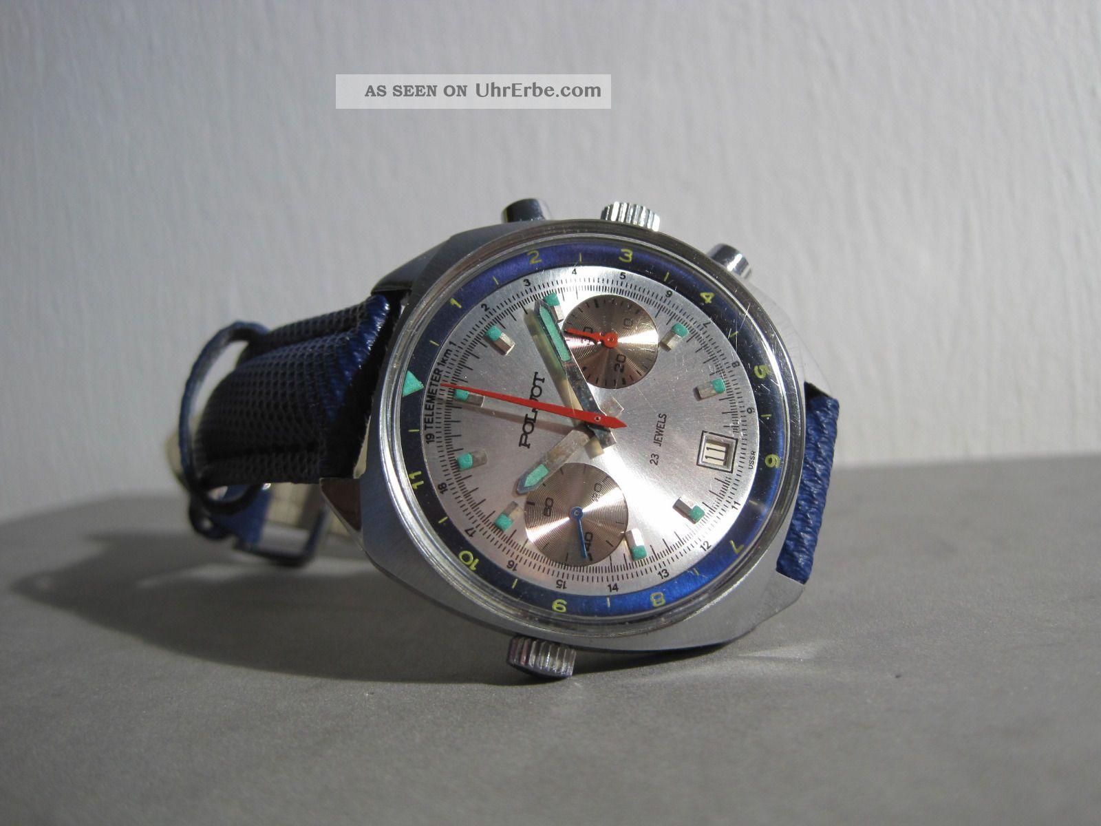 Poljot Chronograph Sturmanski Kal.  3133 Made In Ussr Top Armbanduhren Bild