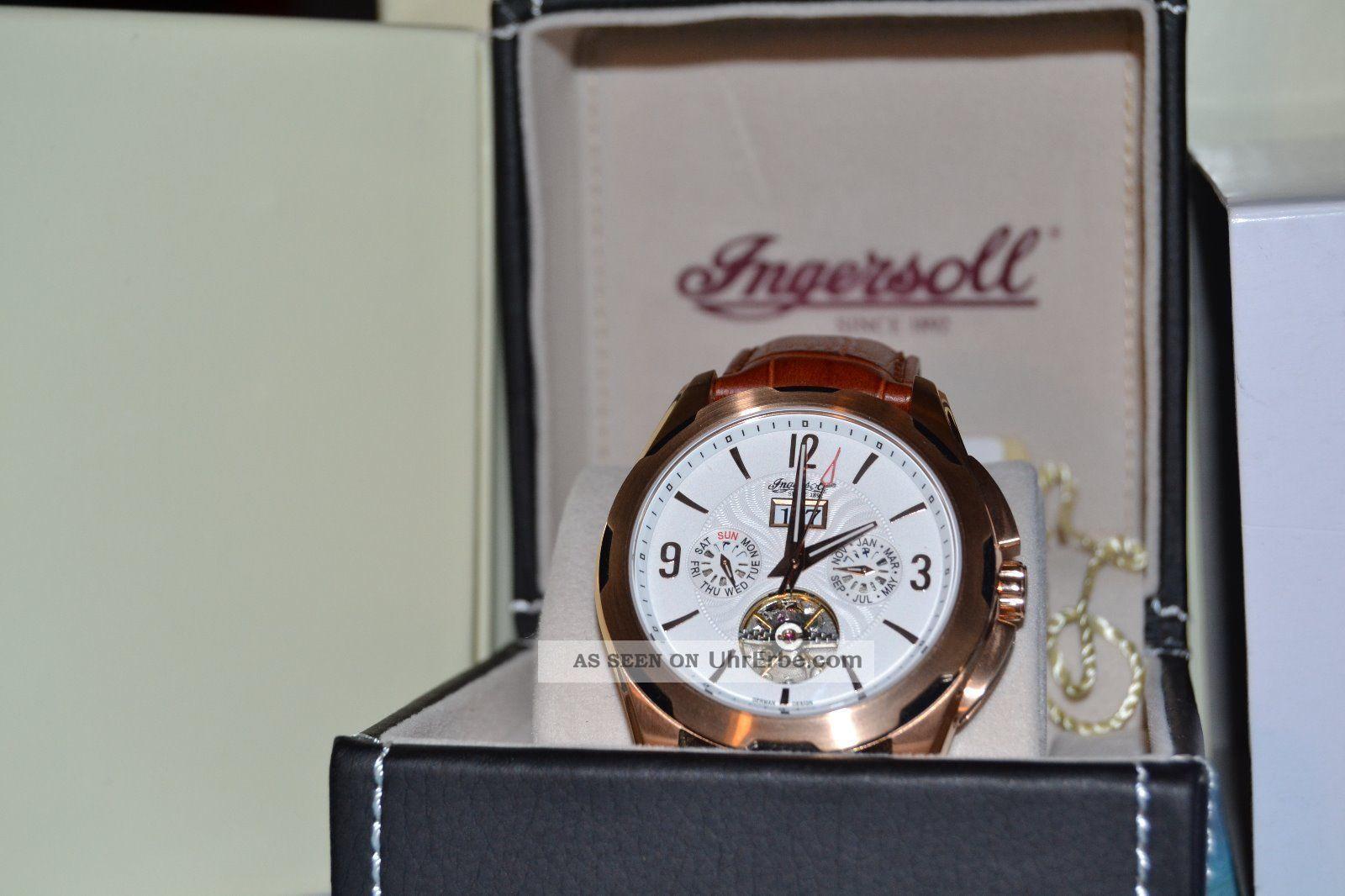 Ingersoll Herrenuhr Automatik Mit Etikett Armbanduhren Bild