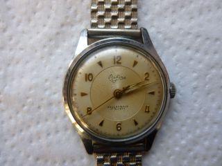 Armbanduhr Aus Papas Sammlung Nr.  29 Bifora 17 Rubis Mindes 12 Std. Bild
