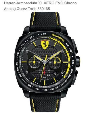 Ferrari Herren Armbanduhr Xl Aero Evo Chrono Analog Quarz Textil 830165 Bild