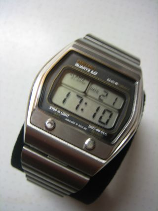 Seiko Quartz Lc Alarm A031 - 5019 1979 Chronograph Lcd Digitaluhr Digital Bild