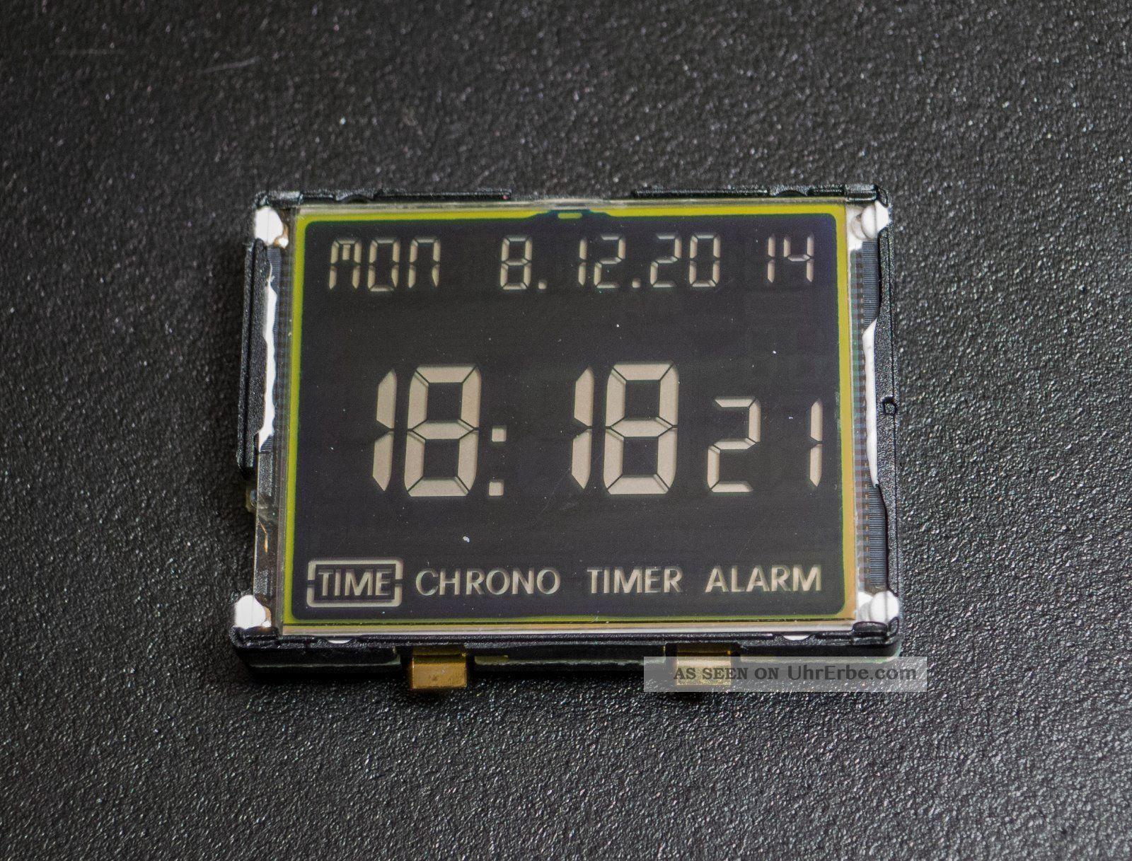 Junghans Mega 1000 Funkuhrwerk 604.  64 Inkl.  Neuer Sony Batterie Cr1620 Armbanduhren Bild