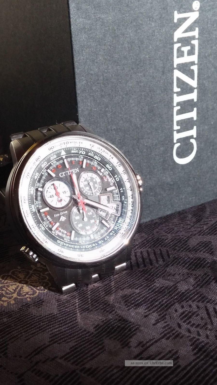 Citizen Herren - Armbanduhr Chronograph Quarz By0 / B8135 Radio - Contr.  Titanium Armbanduhren Bild