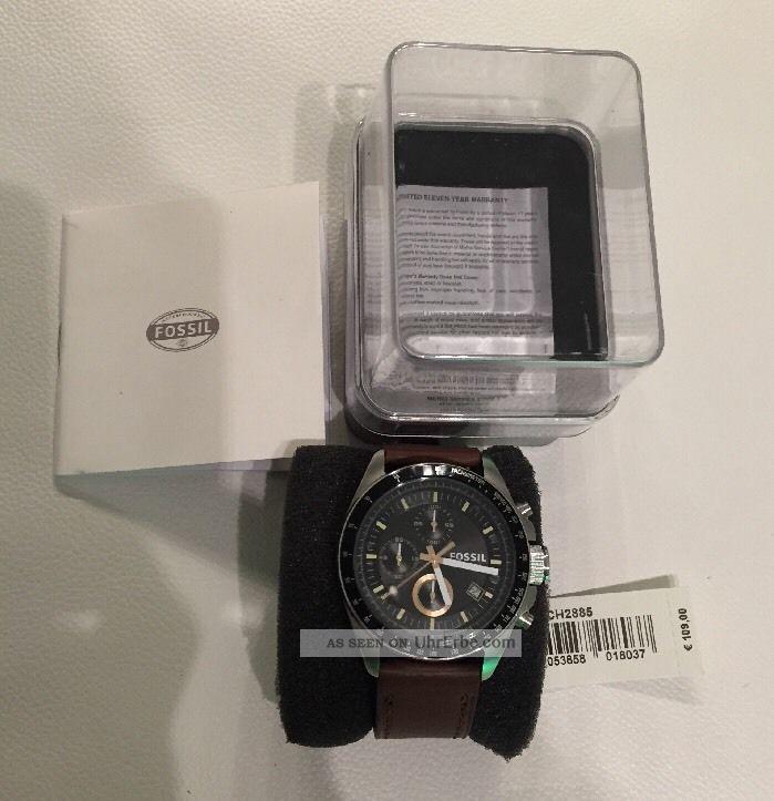 Fossil Herrenuhr Ch2885 Decker Chronograph Edelstahl Mit Ovp: Np:109,  00€ Armbanduhren Bild