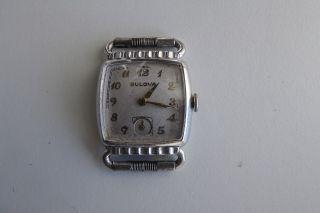 Bulova Uhr 60er Jahre Vintage Mit Kl Sekunde Gold Farbene Zeiger Kal L3 Bt10 Bild