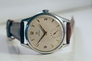 Omega Bumper White Dial Uhr/watch Herren/gents Cal.  266 Top/mint Bild