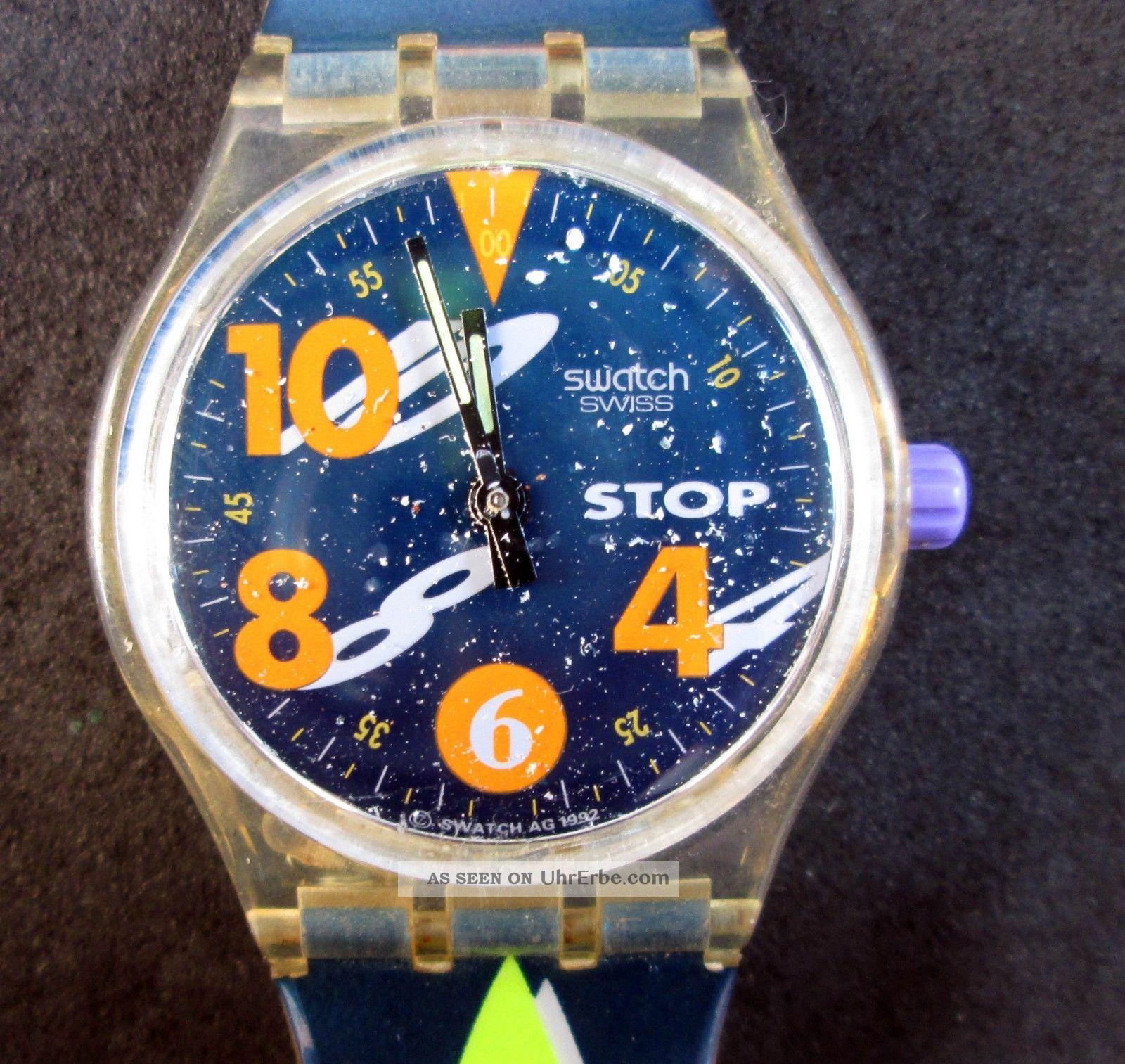 Stop - Swatch,  Swatch Armbanduhr,  Stoppuhr,  Uhr Läuft,  Batterie Ist Armbanduhren Bild