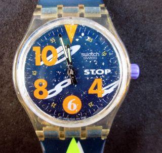 Stop - Swatch,  Swatch Armbanduhr,  Stoppuhr,  Uhr Läuft,  Batterie Ist Bild