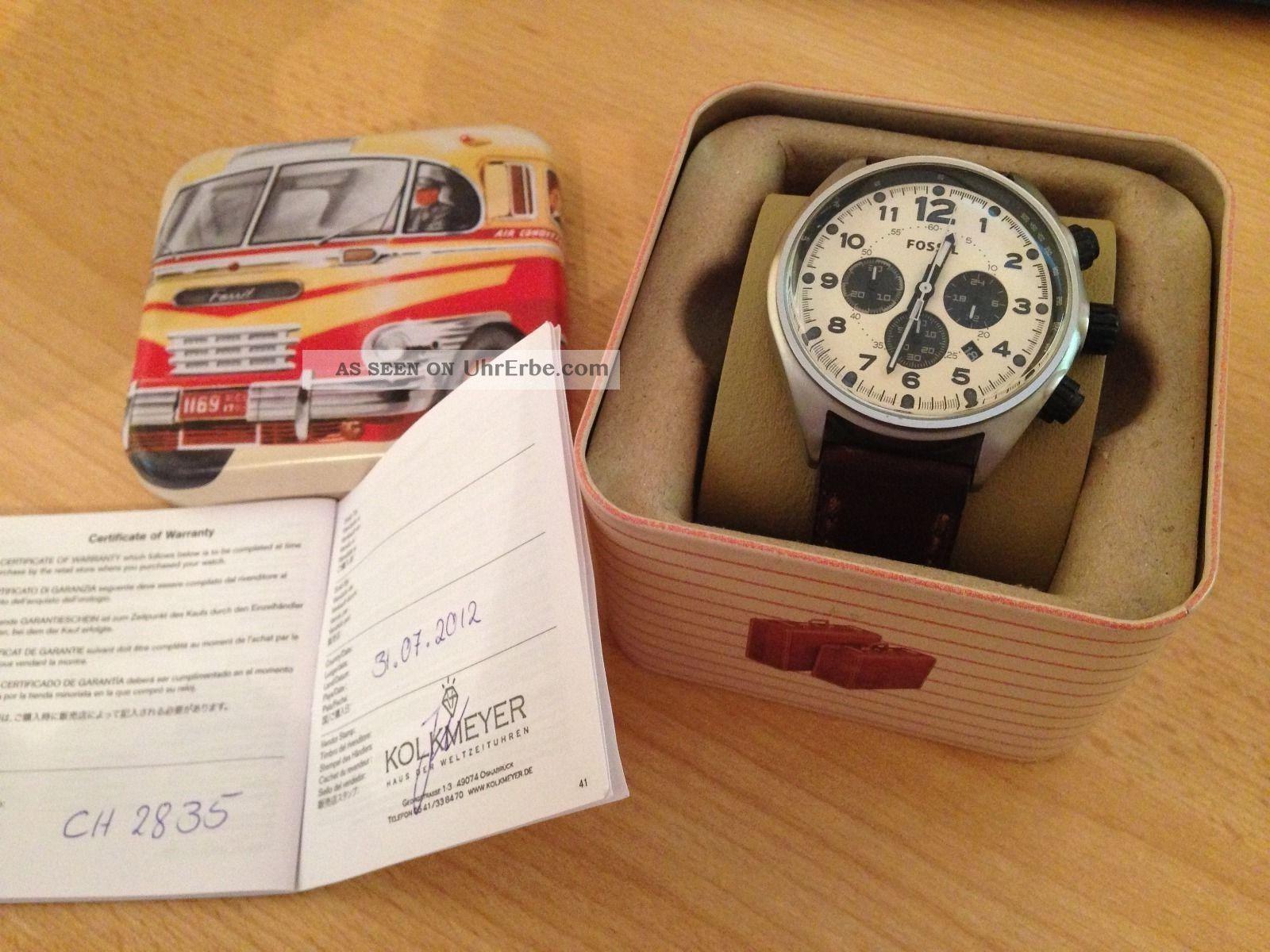 Fossil Flight Armbanduhr Für Herren (ch2835) Armbanduhren Bild