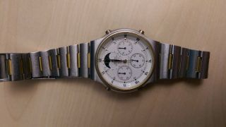 Seiko Chronograph Sports 100 7a48 - 7000 Mondphase / Moonphase Bild