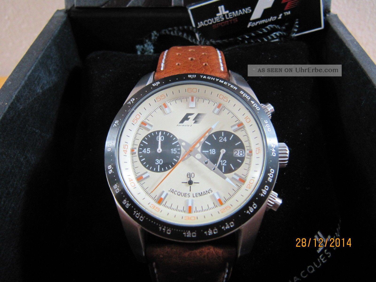 Jacques Lemans Formel 1 Retro 1970 5019 Herren Armbanduhr Uhr Selten Top Armbanduhren Bild