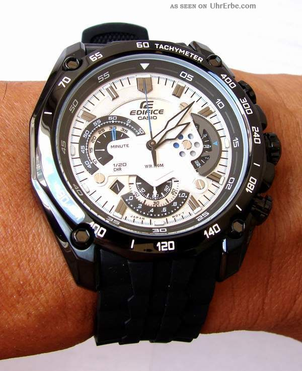 Casio Edifice Ef - 550pb - 7av Watch Sportlich - Elegante Herrenuhr Xl Armbanduhren Bild