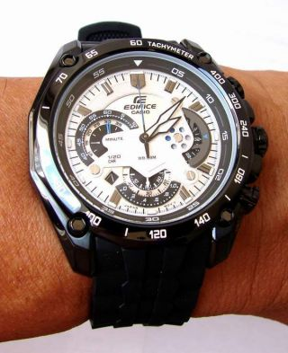 Casio Edifice Ef - 550pb - 7av Watch Sportlich - Elegante Herrenuhr Xl Bild