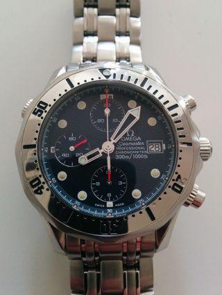 Omega Seamaster Diver 300m Chrono Fullset Box Papiere Bild