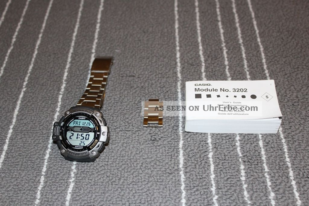 Casio Sgw - 300h 3202 Alti Barometer Thermometer Herren Armbanduhr Uhr Armbanduhren Bild