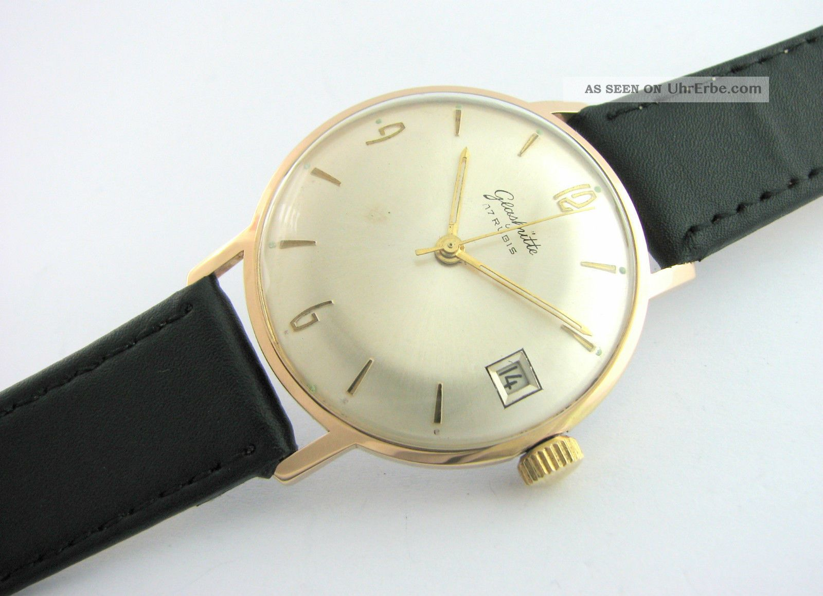 Classic.  Glashutte 17 Rubis.  Big Case.  Gold Plated.  Cal.  69.  1.  Check It Armbanduhren Bild