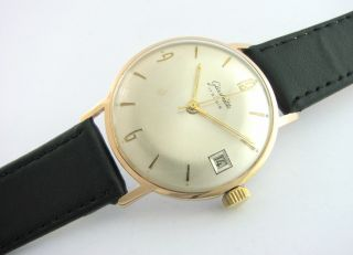 Classic.  Glashutte 17 Rubis.  Big Case.  Gold Plated.  Cal.  69.  1.  Check It Bild
