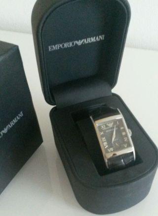 Emporio Armani Leder Armbanduhr (ar0247) Ovp Mit Kiste Bild
