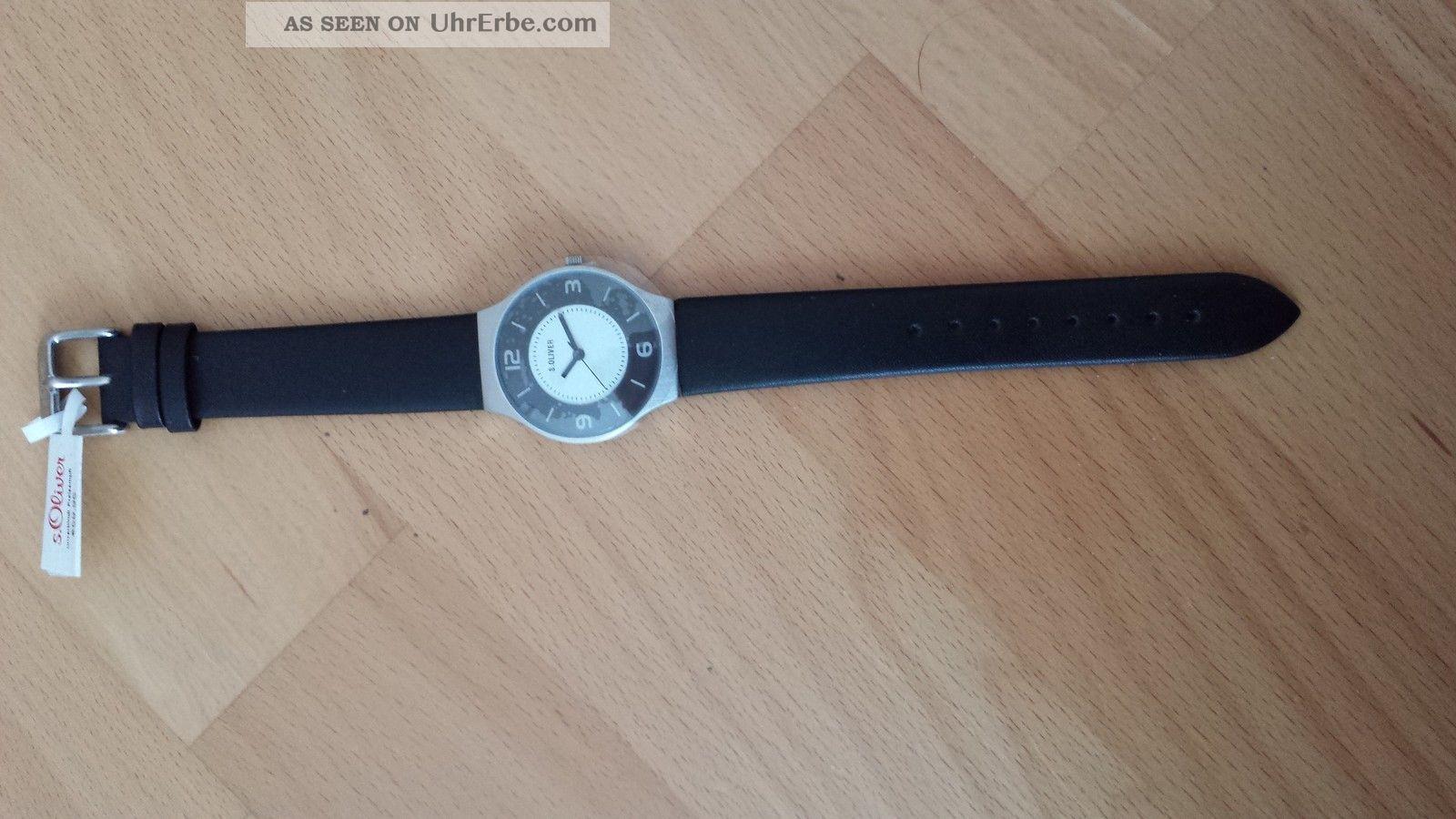 1x S.  Oliver Herren Uhr So - 1698 - Lq Schwarz,  Kann Auch Von Damen Getragen Werden Armbanduhren Bild
