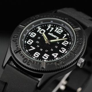 Infantry Herren Uhr Sport Mode Armbanduhr Fliegeruhr Herrenuhr Schwarz Quarzuhr Bild