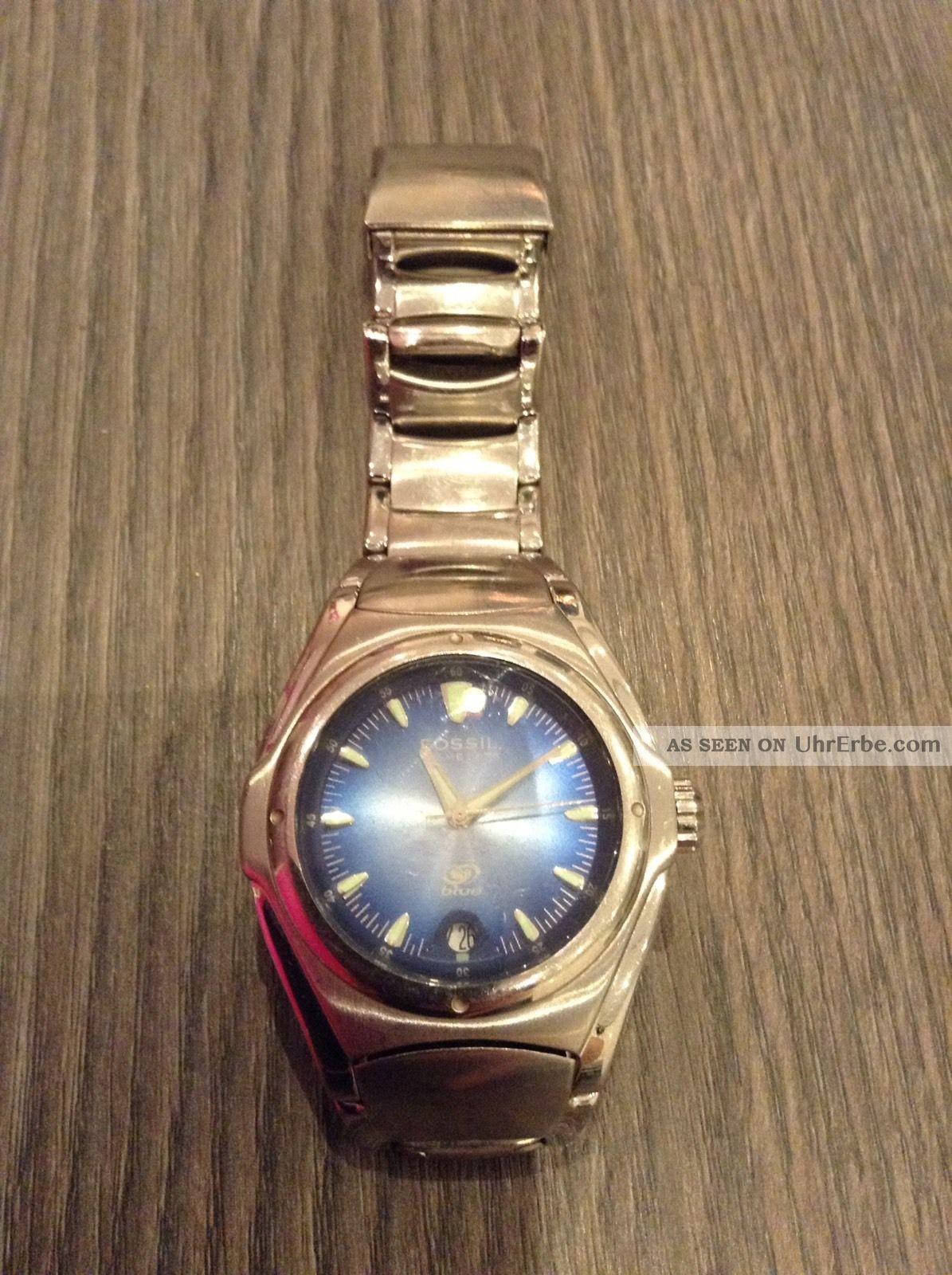 Fossil Uhr Herren Blue Am3709 Armbanduhren Bild