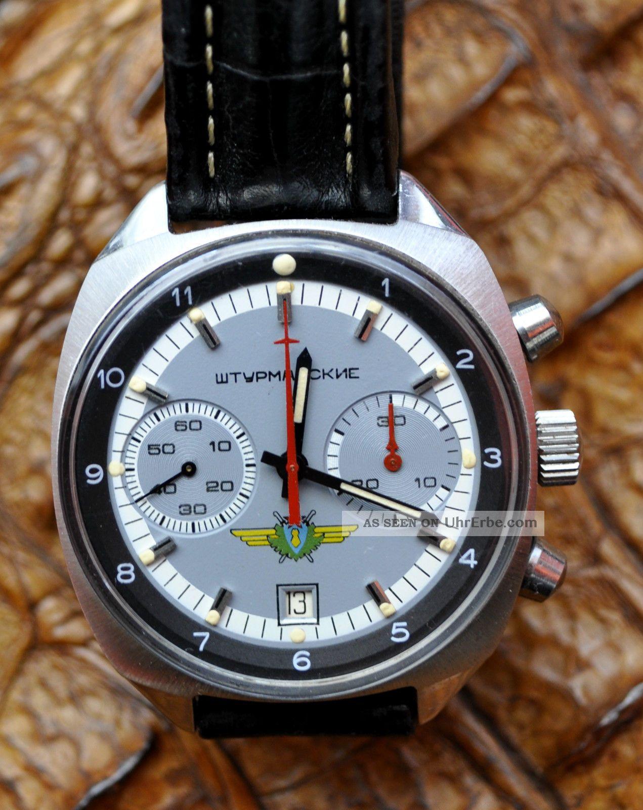 Poljot Chronograph Sturmanskie Stoppsekunde Armbanduhren Bild