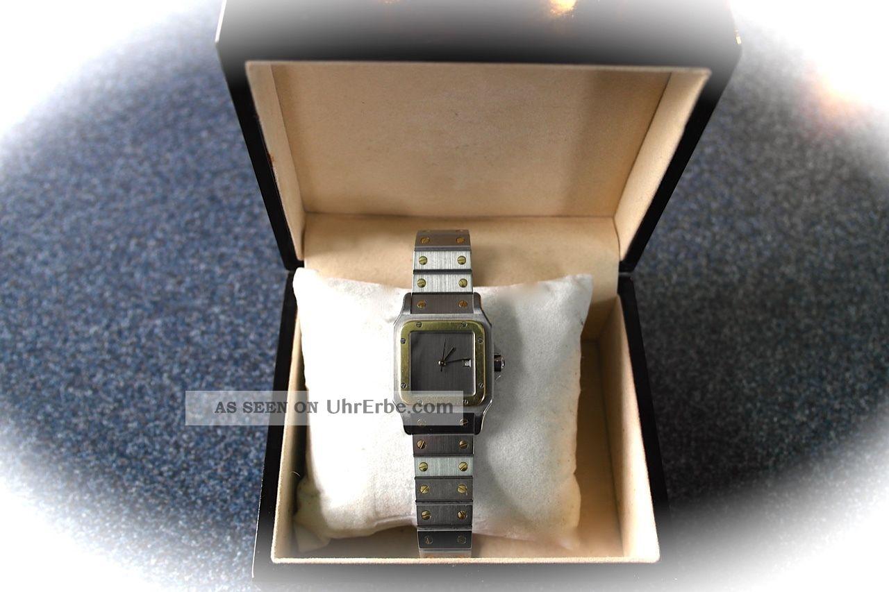 Cartier Paris Herren Und Damen Kult Uhr Santos Gelegenheit Armbanduhren Bild