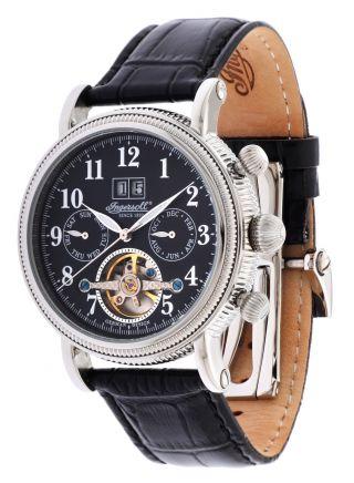 Ingersoll Herren Automatik Uhr Tecumseh Schwarz In1825bk Bild